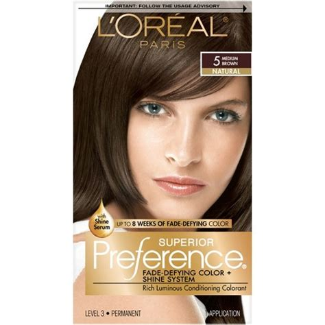 l oreal superior preference permanent hair color medium target