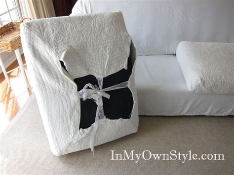 How To Make Sofa Cushion Covers by How To Cover A Chair Or Sofa With A Fit Slipcover