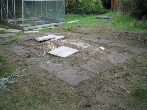 Laying Paving Slabs For Shed Base by Re Lay Concrete Slabs To Make 10ftx10ft Base House