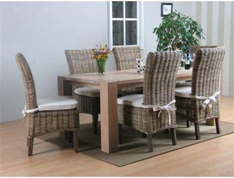 eiken eethoek stoelen bol grand eethoek tafel met 6 rotan stoelen
