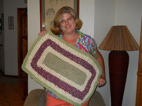 crochet rectangle rag rug tutorial part 1