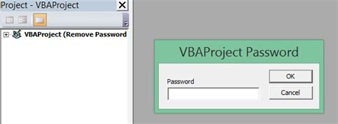 remove vba module password 1 remove password from excel using vba excel vba