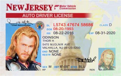 New Jersey Id Card Template new jersey nj license id viking