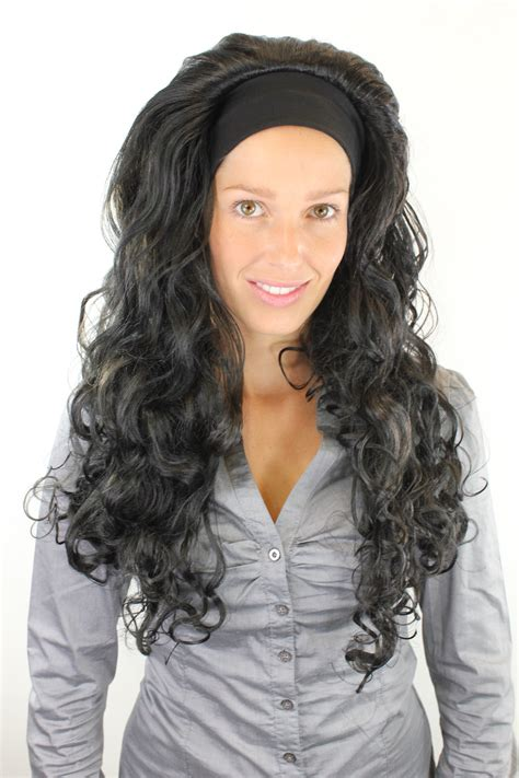 johnnuman hairstyle wigs for hispanic women curls glorious wig with headband