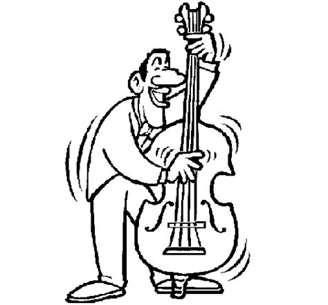 cello coloring page coloring pages