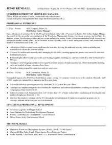 warehouse distribution manager cover letter