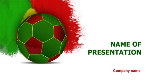 powerpoint templates soccer free portugal soccer powerpoint template for