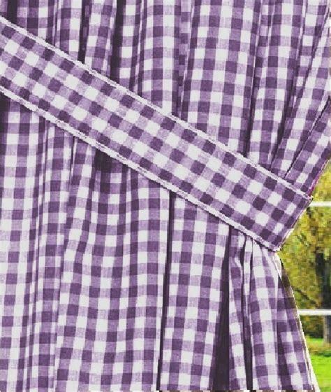 gingham check curtains dark purple gingham check window curtains