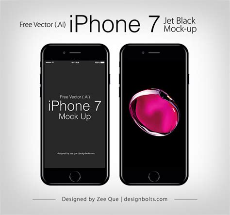 iphone layout vector free vector apple iphone 7 mockup in ai eps format
