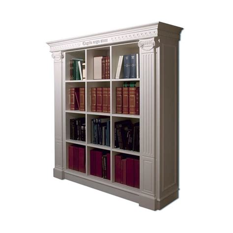 Classic Book Shelf by Luxurious Library Handmade Carvings For Living Room