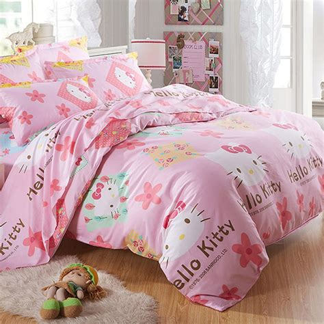 cheap kids bedroom sets flower decoration bed cover design ideas in hello kitty bedding
