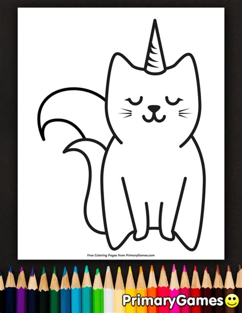 caticorn coloring page  printable  coloring