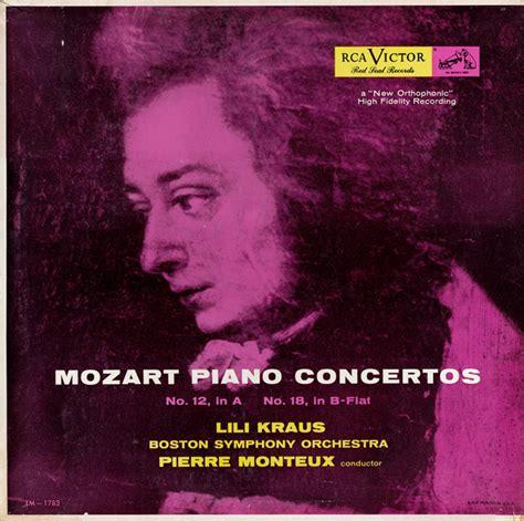 mozart piano concerto mozart lili kraus boston symphony orchestra pierre