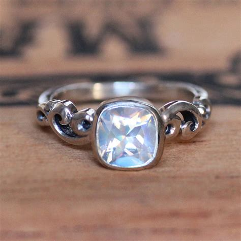 Moonstone Ring rainbow moonstone engagement ring