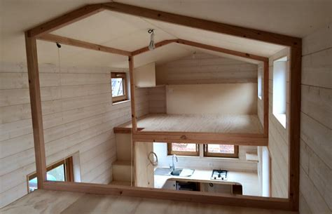 small house design with mezzanine tiny house une maison nomade alternative construction21