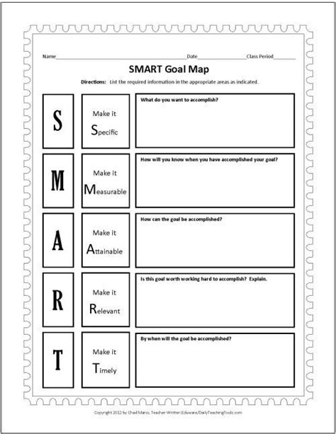 smart goals templates smart goals template