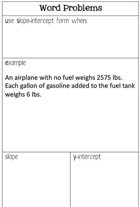 slope word problems worksheet slope intercept form word problems worksheet pdf see