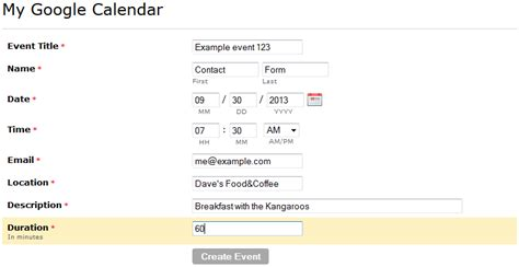 Calendar Docs Integration Calendar Integration 123contactform Knowledge Base