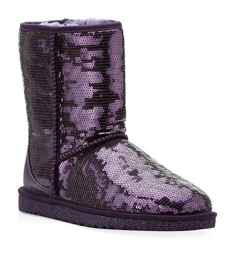 sparkle boots ugg classic sparkle boot in purple lyst