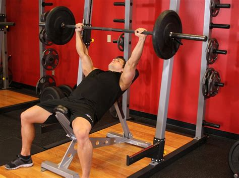 how to incline bench press barbell incline bench press medium grip