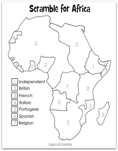 us imperialism outline map scramble for africa blank map