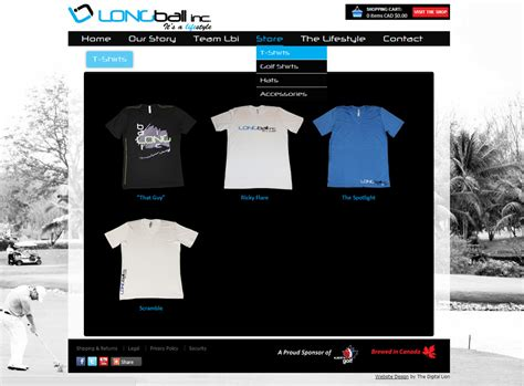 website design jaket e commerce website design for golf clothing company