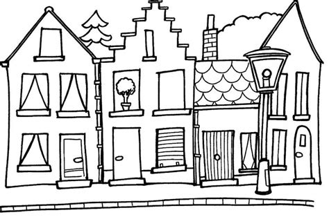 how to color a house house line art cliparts co