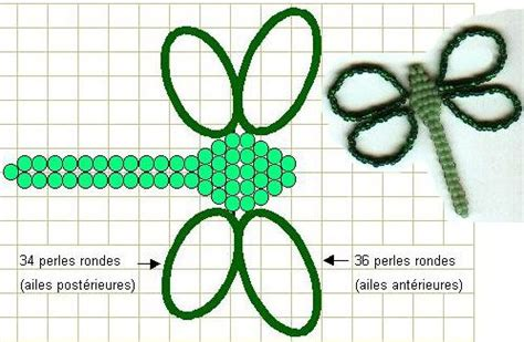 seed bead dragonfly pattern jewelry