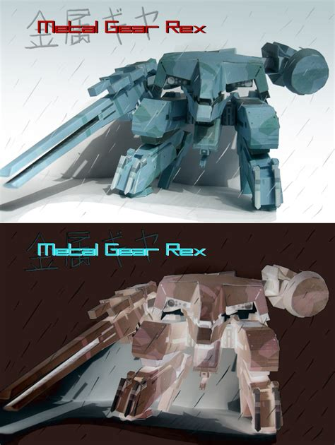 Gear Papercraft - papercraft metal gear rex by cncplyr on deviantart