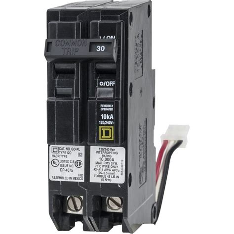 integrated circuit breaker power square d qo 30 1 5 in 2 pole ilc power link circuit breaker qo230plilc the home depot