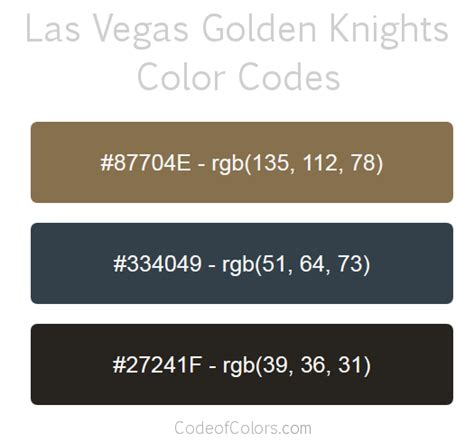 vegas gold color code las vegas golden knights colors hex and rgb color codes