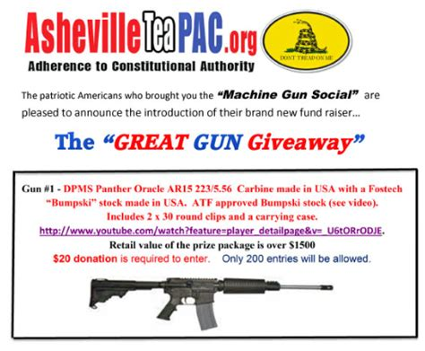 Great Gun Giveaway - north carolina tea party group hosts great gun giveaway before all newtown