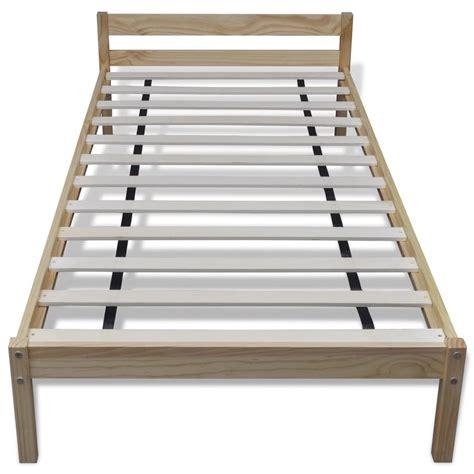 einzelbett holz einzelbett aus massivem holz natur 200 x 90 cm g 252 nstig