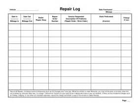 Service Record Template by 5 Best Images Of Printable Vehicle Maintenance Logs Sheets