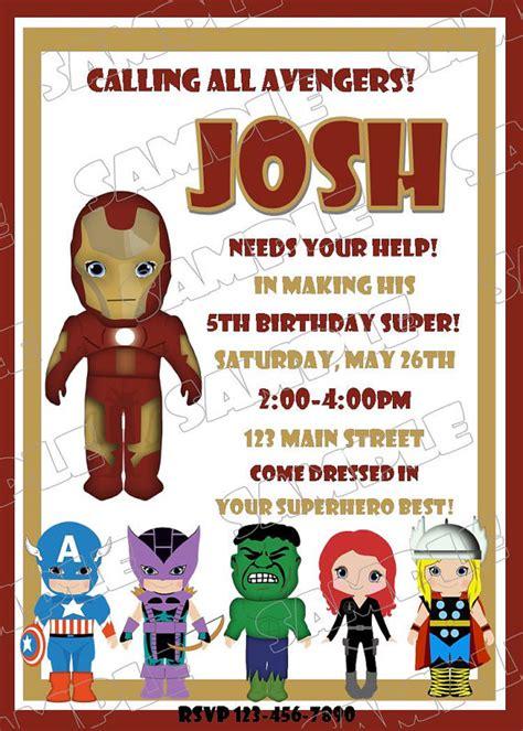 printable iron man birthday card items similar to avengers iron man inspired birthday party