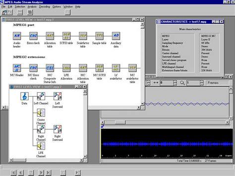 audio file format analyzer mpeg test and monitoring tektronix