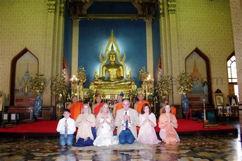 Wedding Blessing Thailand by Bangkok Buddhist Blessing Package Marble Temple