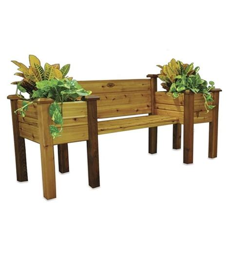 Outdoor Bench With Planter Boxes by 25 Best Ideas About Planter Bench On Garden Bench Seat Garden Benches Uk And Back