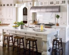 kitchen island could easily provide dining space for four people ideas home trends bright bold and beautiful blog