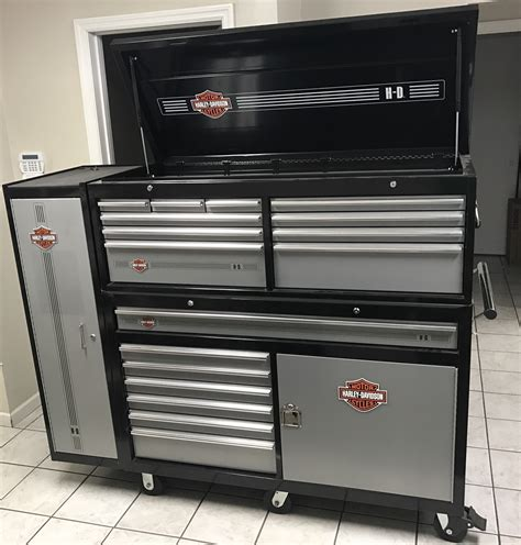 Harley Davidson Toolbox by Large Harley Tool Box And Side Cabinet Harley Davidson