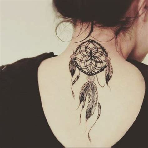 small tattoos on back of neck 38 small dreamcatcher placement ideas