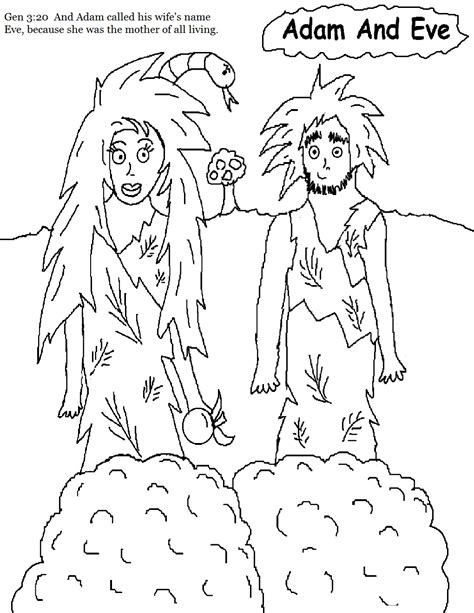 free coloring pages of adam and eve sheet