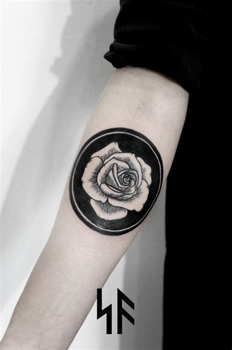 negative space rose tattoo 30 gorgeous negative space designs