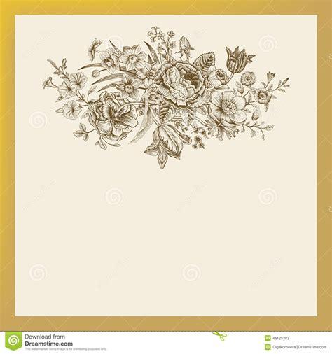 Vintage Flower L by Vintage Floral Vector Card Stock Vector Image 46125383