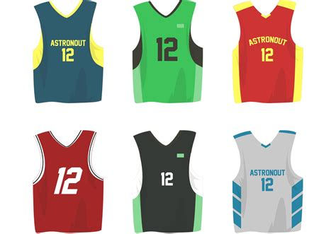 basketball sports jersey vectors   vectors
