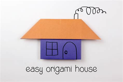 How To Make A Paper House Easy - easy origami house tutorial