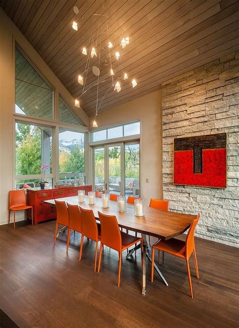 restaurant review the dining room 25 trendy dining rooms with spunky orange