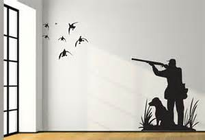 sml mallard duck hunting wall decal 8ft large hunter dog duck hunting fishing wall decal nursery decal duck hunting