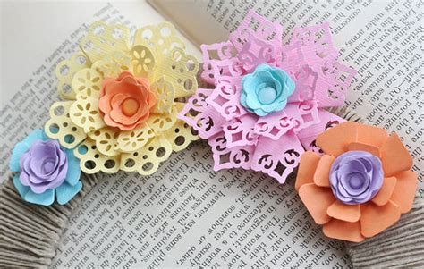 How To Make Easy Flowers Out Of Construction Paper - make punched paper flowers dollar store crafts