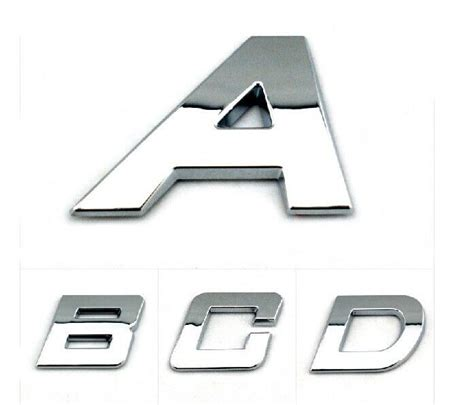 Auto Decals Letters by Car Stickers Auto Emblem Decals Bright Chrome Letters
